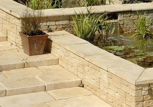 Terrasse pierre naturelle ou reconstitu e - Dalle terrasse pierre reconstituee ...