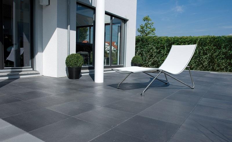 Carrelage sol extérieur effet béton gris