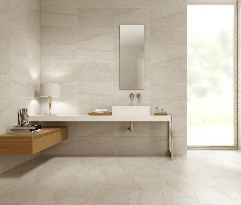 Carrelage pierre calcaire salle de bain