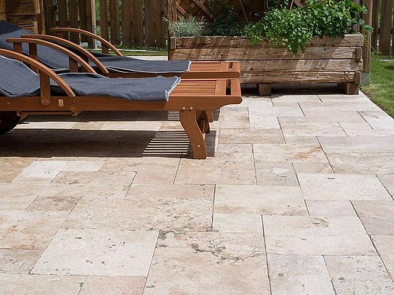 carrelage pierre calcaire terrasse piscine