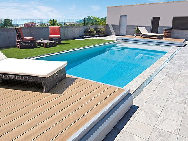 lame bois naturelle pour plage piscine